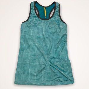 LOLE Teal Activewear Tank Top With Bra